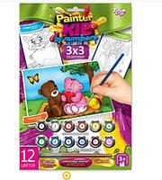 """Набор для творчества """"Раскраска по намерам Painter kids Два мишки """""""