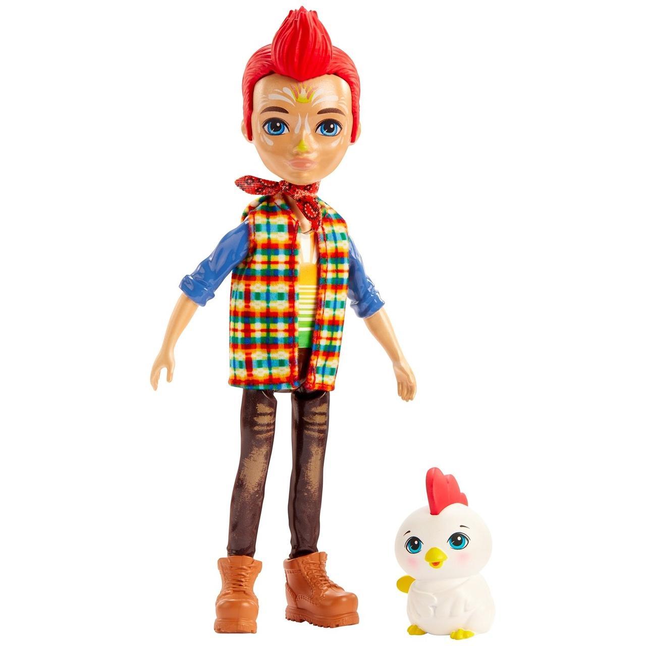 Кукла Enchantimals со зверюшкой Ривод Рустер и Клак GJX39