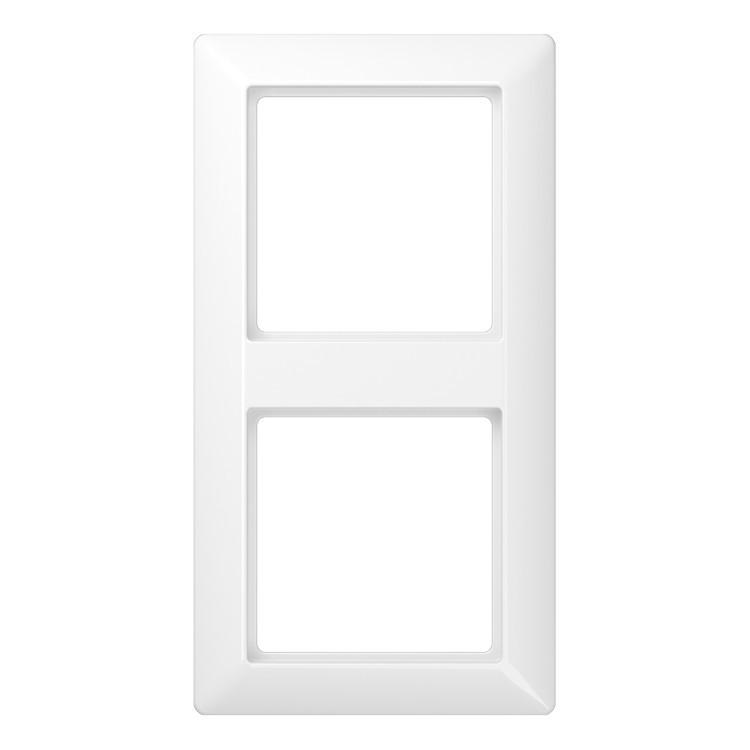 Рамка 2-кратная для вертикальной и горизонтальной установки, белая