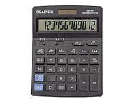 """Калькулятор настольный SKAINER """"111"""" 12 разрядный черный"""