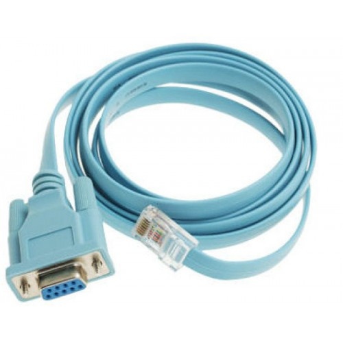 Кабель RS-232 (COM) to RJ-45 Consol Cable 8C DB9 to RJ-45, 28AWG (1.8м)