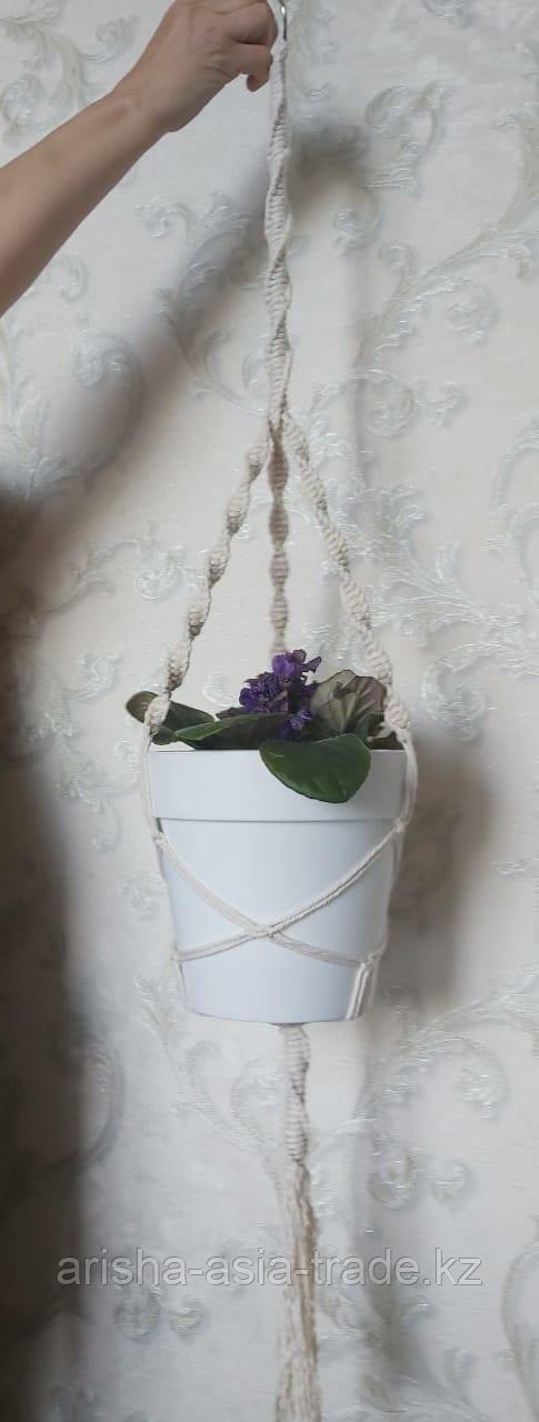 Подвесное кашпо для цветов.
