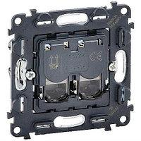 Legrand Розетка 2х RJ45 Cat6 UTP аксессуар для кабельных сетей (753043)