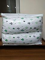 Подушка обнимашки белый/кактус