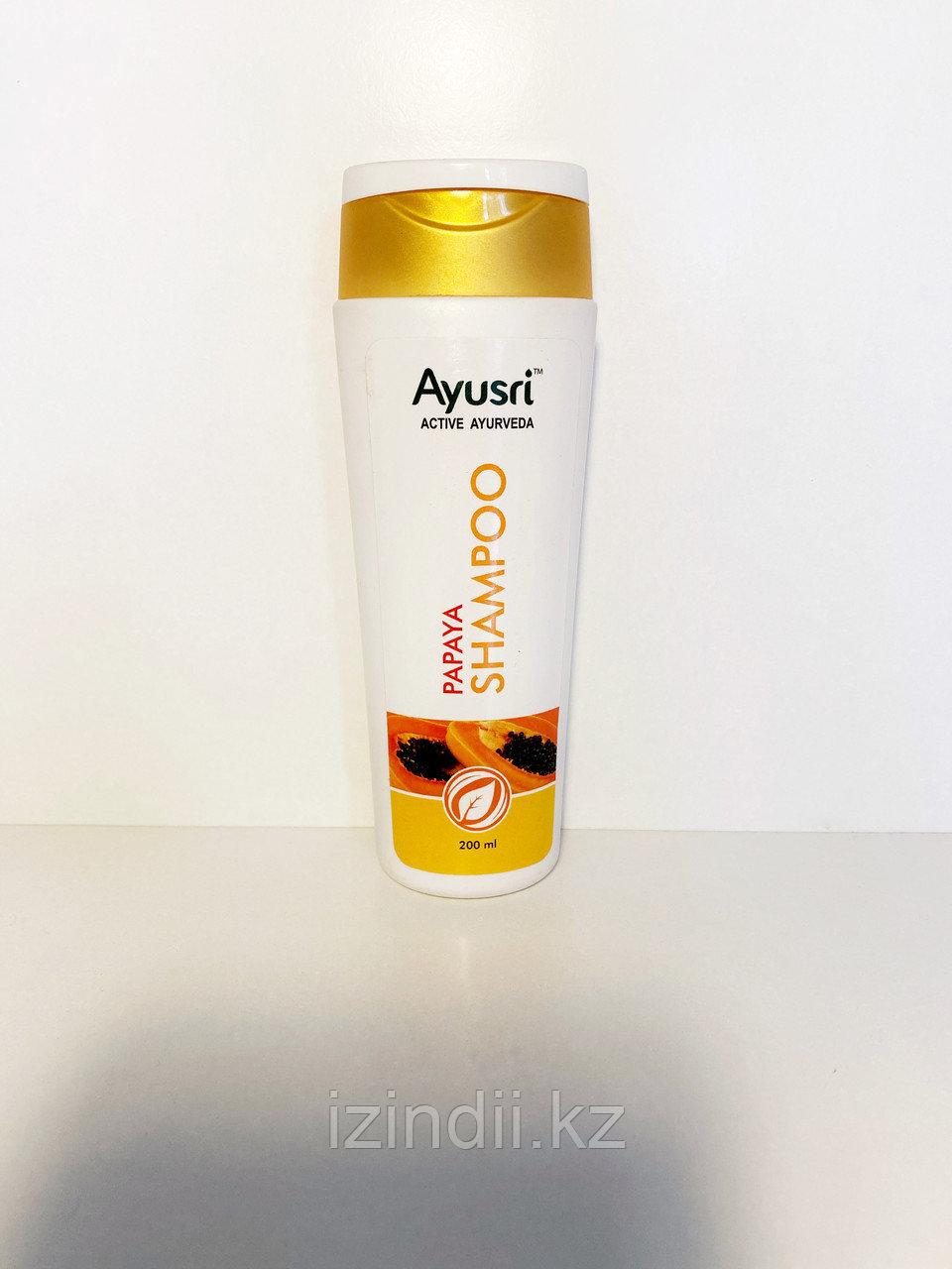Аюрведический шампунь для волос с Папайя, 200 мл, Ayusri