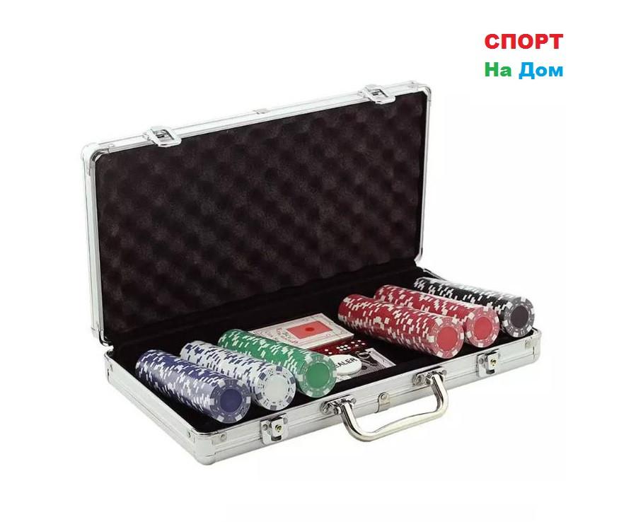 Покерный набор в кейсе 300 фишек
