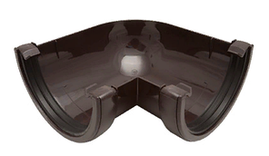 Угол желоба 90° 120x80 мм FINEBER Коричневый