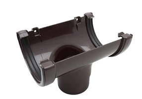 Воронка желоба 120x80 мм FINEBER Коричневый