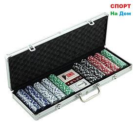 Покерный набор в кейсе 500 фишек
