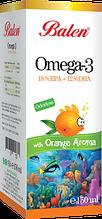 Рыбий жир со вкусом апельсина Омега-3 Balen, Турция