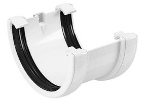 Соединитель желоба 120x80 мм FINEBER Белый