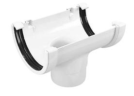 Воронка желоба 120x80 мм FINEBER Белый