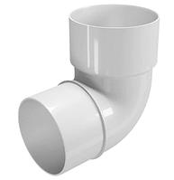 Колено трубы 45° 80 мм FINEBER Белый