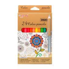 Карандаши цветные Yalong  12шт/24цв.