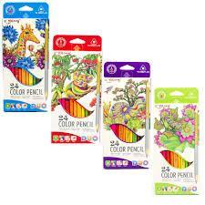Карандаши цветные Yalong 12шт/24 цв