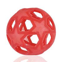 Прорезыватель для зубов HEVEA Star ball Raspberry Red