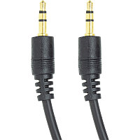 Аудио кабель PowerPlant 3.5 mm M-M 1м (Черный)