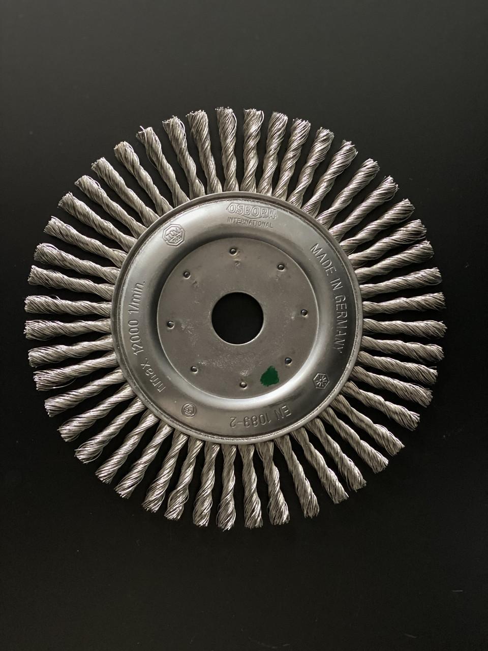 Щётка дисковая D 171 x 6 x 22,2 mm. OSBORN Жгутовая стальная проволока 0,5mm