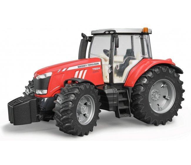 Bruder Игрушечный Трактор Massey Ferguson 7600, красный (Брудер 03-046)