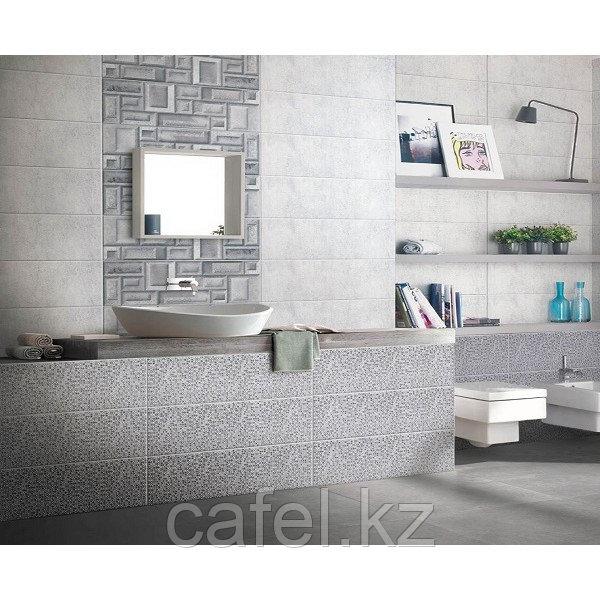 "Кафель для ванной комнаты ""Пьемонт"" серый"