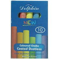 Мелки для доски (разноцветные) Dolphin