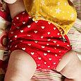 Многоразовые трусики подгузники для бассейна с высокой талией красные сердечки, фото 2