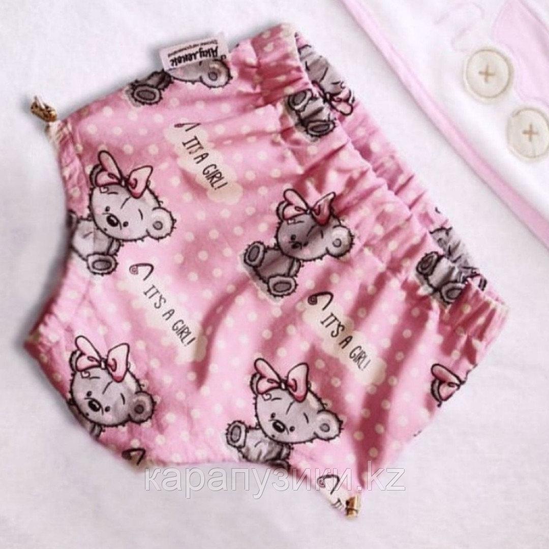 Многоразовые трусики подгузники для бассейна с высокой талией розовые мишки