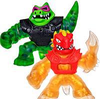 Гуджитсу набор фигурок золотой Дракон и Рок Джо крокодил Goo Jit Zu, фото 1