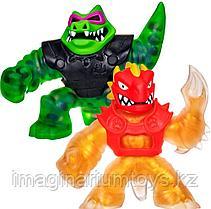 Гуджитсу набор фигурок золотой Дракон и Рок Джо крокодил Goo Jit Zu