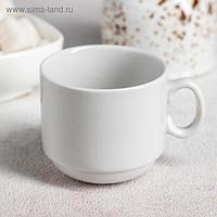 Чашка кофейная «Мокко», 100 мл, цвет белый