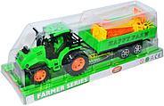 Поврежденная упаковка!!! 925-35 Трактор с прицепом и мельницей 17*13см, фото 2