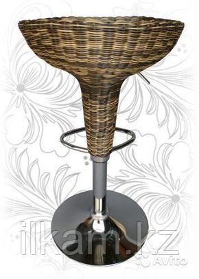 Стул барный из искусственного ротанга, фото 2