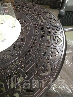 Комплект мебели из литого аллюминия, ажурный, фото 2