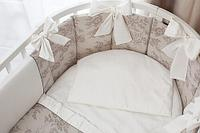 Комплект в кроватку Perina Elfetto Oval 6 предметов Молочно-Белый