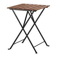 Стол cадовый складной ТЭРНО серо-коричневая морилка ИКЕА, IKEA