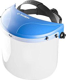 Щиток защитный лицевой ЗУБР 200 х 400 мм, визор из поликарбоната (11085)