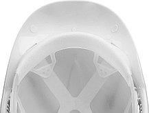 Каска защитная ЗУБР размер 52-62 см, белая (11090-2_z01), фото 3