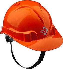 Каска защитная ЗУБР размер 52-62 см, храповый механизм регулировки размера, оранжевая (11094-1)