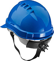 Каска защитная ЗУБР размер 52-62 см, храповый механизм регулировки размера, синяя (11094-3), фото 2