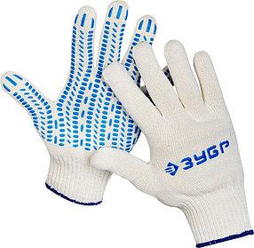 Перчатки трикотажные ЗУБР L-XL, 10 класс, х/б, защита от скольжения (11390-K10)
