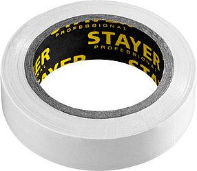 Изоляционная лента пвх STAYER 15 мм х 10 м, не поддерживает горение, Protect-10 (12291-W)