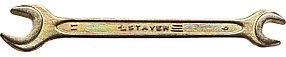 Ключ гаечный STAYER 9х11 мм, оцинкованный, рожковый (27038-09-11)