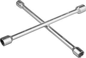 Ключ-крест баллонный ЗУБР 17-19-21-22 мм, пруток Ø15 мм, оцинкованный (27543)