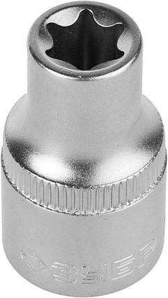 """Торцовая головка ЗУБР 1/2"""", E12, Cr-V сталь, хромированная (27719-12), фото 2"""