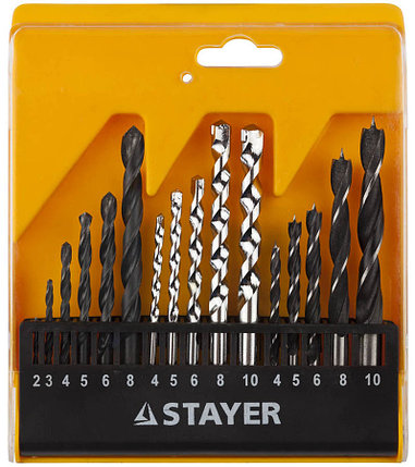 Набор сверл STAYER 16 шт., комбинированный (29720-H16), фото 2