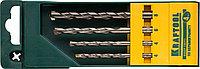 Набор сверла по керамограниту KRAFTOOL 4 шт, 4-4-6-8 мм, цилиндрический хвостовик (29170-H4)