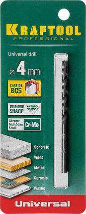 Сверло универсальное KRAFTOOL 4 x 80 мм (29172-080-4_z01), фото 2