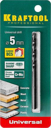 Сверло универсальное KRAFTOOL 5 x 90 мм (29172-090-5_z01), фото 2