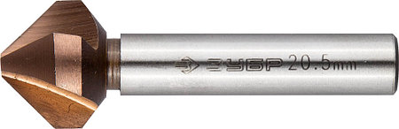 Зенкер конусный ЗУБР Ø 20,5 x 63 мм, для раззенковки М10 (29732-10), фото 2