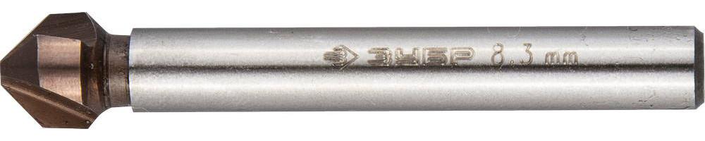 Зенкер конусный ЗУБР Ø 8,3 x 50 мм, для раззенковки М4 (29732-4)